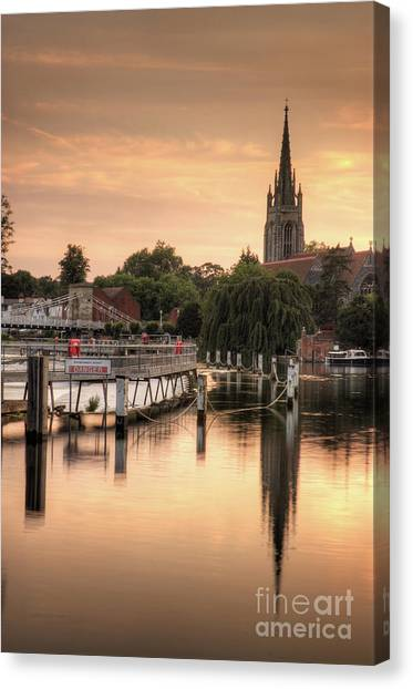 Marlow Canvas Print - Evening Over Marlow by Martin Williams