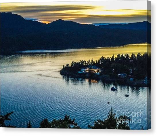 Evening Over Rosario Resort Canvas Print