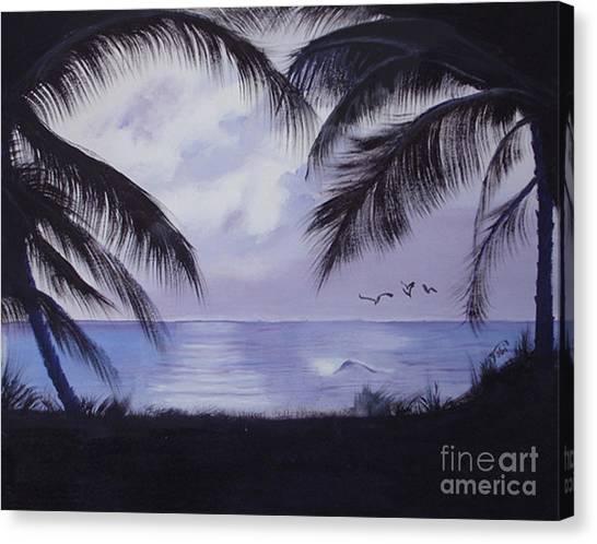 Evening Palms Canvas Print by Tobi Czumak