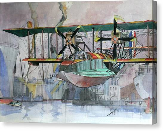 Seaplanes Canvas Print - Evening Patrol by Ray Agius