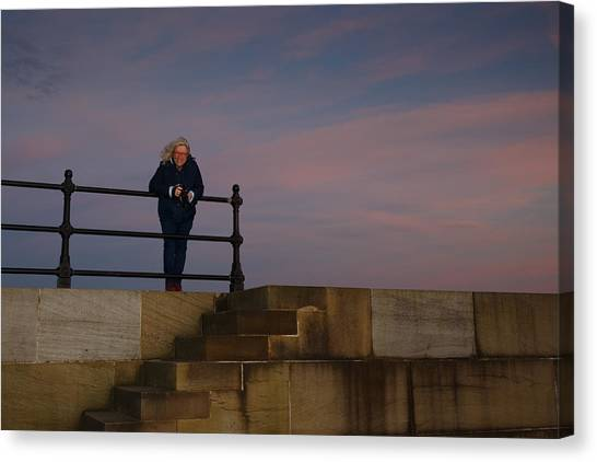 Canvas Print featuring the photograph Evening Portrait by Paul Indigo