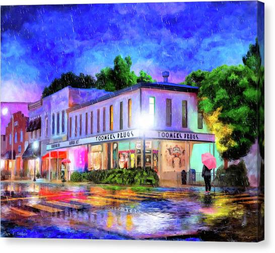 Sec Canvas Print - Evening Rain In Auburn by Mark Tisdale