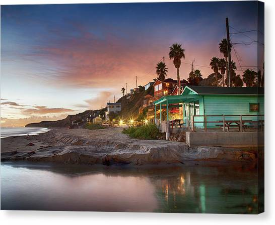 Evening Reflections, Crystal Cove Canvas Print