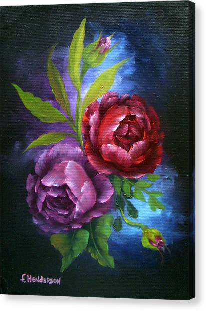 Evening Roses Canvas Print