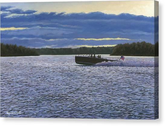 Evening Run Canvas Print