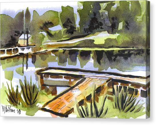 Evening Shadows At Shepherd Mountain Lake Canvas Print
