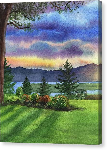 Irina Canvas Print - Evening Shadows Landscape Painting by Irina Sztukowski