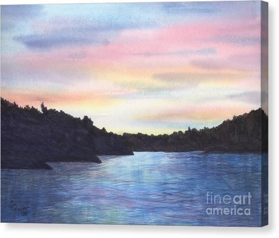 Evening Silhouette Canvas Print