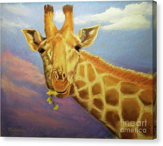 Evening Snack Canvas Print by Joan Swanson