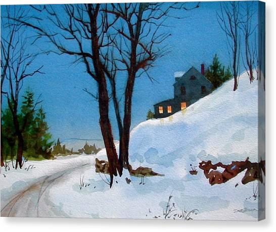 Evening Snow Canvas Print by Faye Ziegler