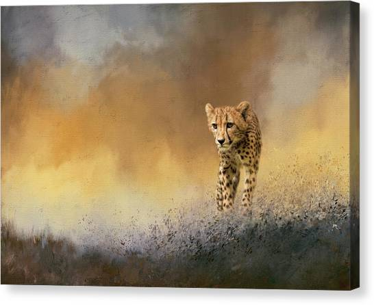 Leapords Canvas Print - Evening Stroll by Cindy Archbell