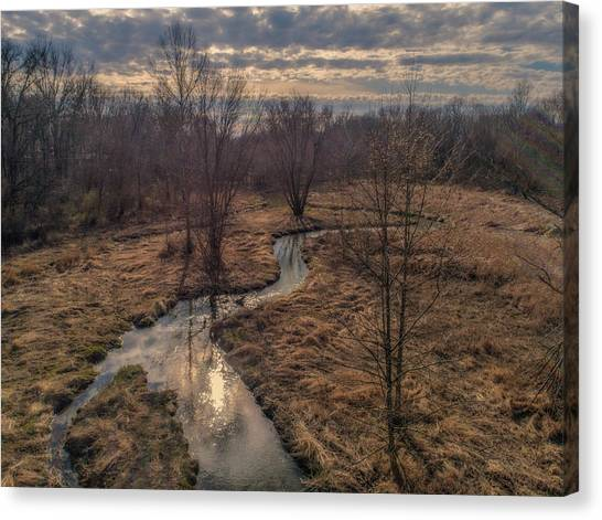 Evening Sun On The Creek Canvas Print