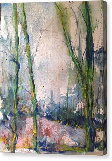 Evening Trees Canvas Print
