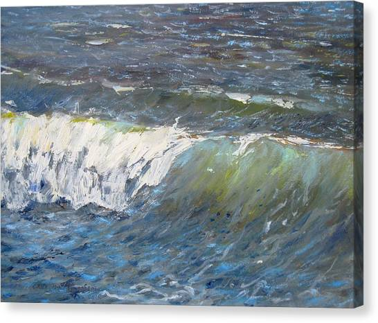 Evening Wave Canvas Print by Thomas Glass Phinnessee