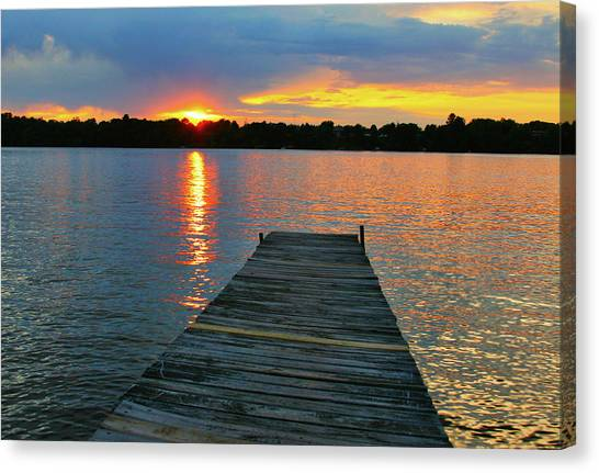 Evenings At The Cabin Canvas Print