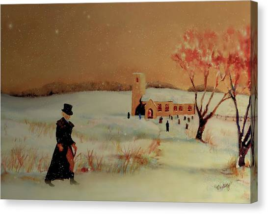 Canvas Print featuring the painting Evensong by Valerie Anne Kelly
