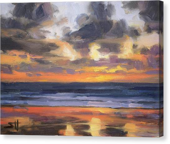 Pacific Coast Canvas Print - Eventide by Steve Henderson