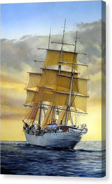 Ships Canvas Print - Eventide by Tim Johnson