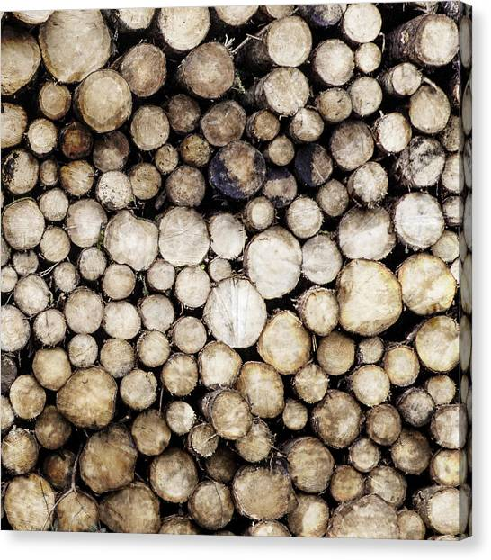Log Cabin Canvas Print - Ever Decreasing Circles by Kate Morton