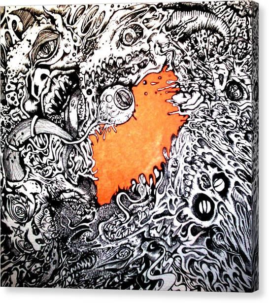 Ever Decreasing Madness Canvas Print by Sam Hane