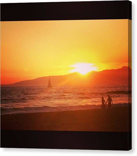 Venice Beach Canvas Print - Ever Since Happiness Heard Your Name by Roomana Patel