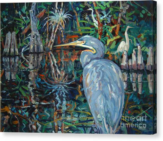 Egrets Canvas Print - Everglades by Donald Maier