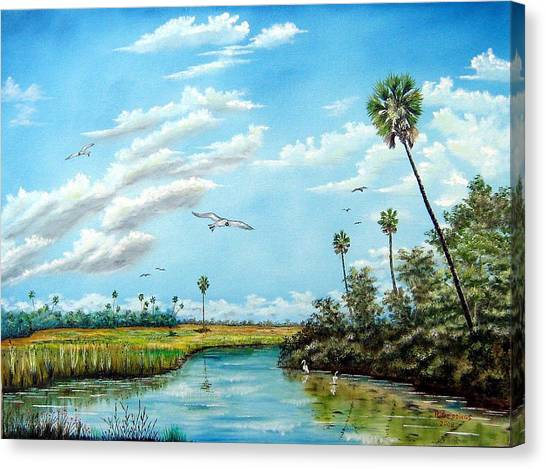 Everglades Inlet Canvas Print by Riley Geddings