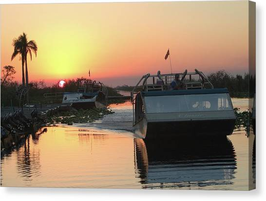 Everglades Sunset Canvas Print