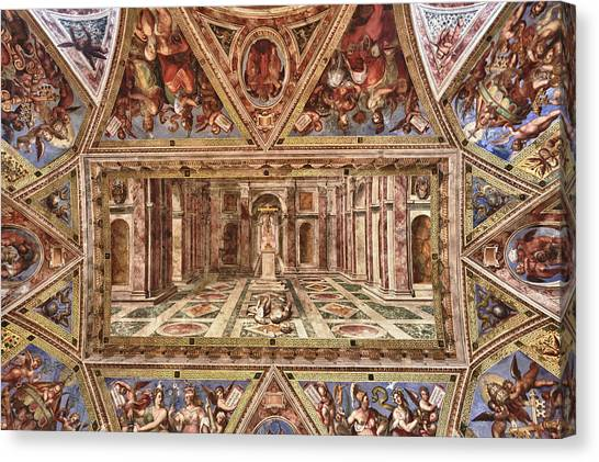 The Vatican Museum Canvas Print - Everlasting Awe by Janet Fikar