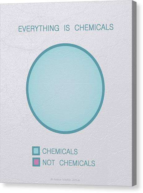 Canvas Print featuring the digital art Everything Is Chemicals by Ivana Westin