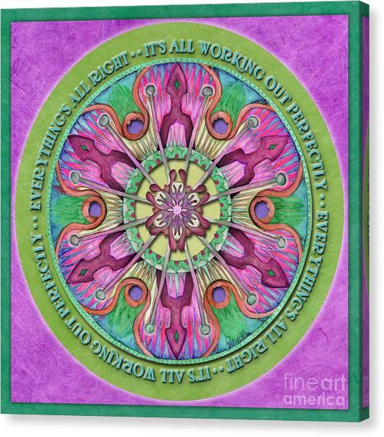 Everything's All Right Mandala Prayer Canvas Print