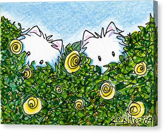 Everythings Coming Up Westies Canvas Print by Kim Niles
