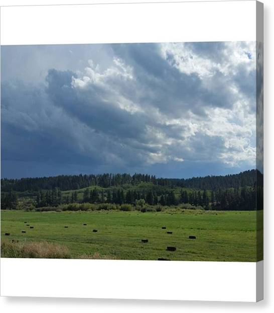 Big Sky Canvas Print - Everywhere I Go That I Haven't Been by Ashley Loza