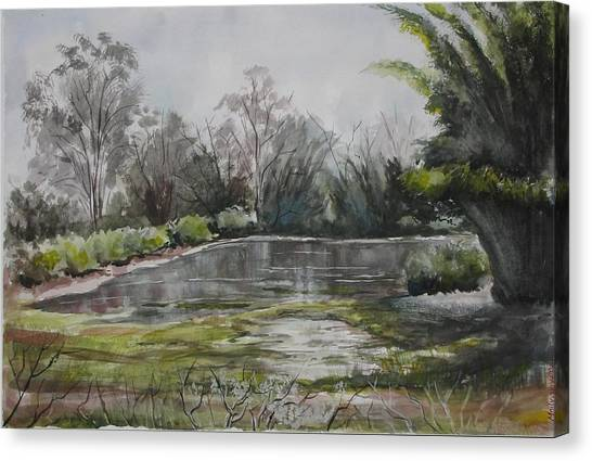 Evevning In Mudumalai Hills Canvas Print