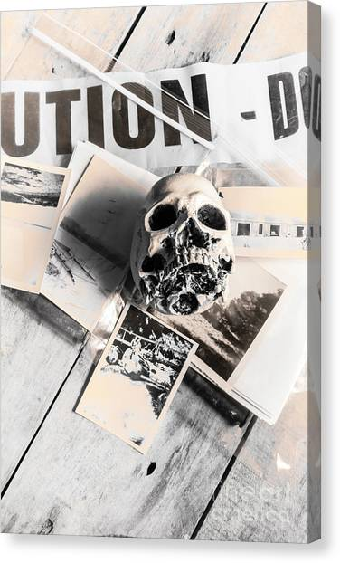 Caution Canvas Print - Evidence Of Old Crimes by Jorgo Photography - Wall Art Gallery