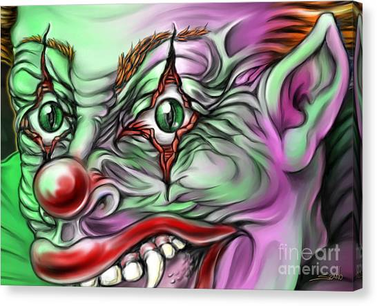 Evil Clown Eyes Canvas Print