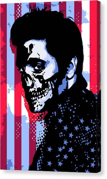 Evil Elvis Canvas Print by Tom Deacon
