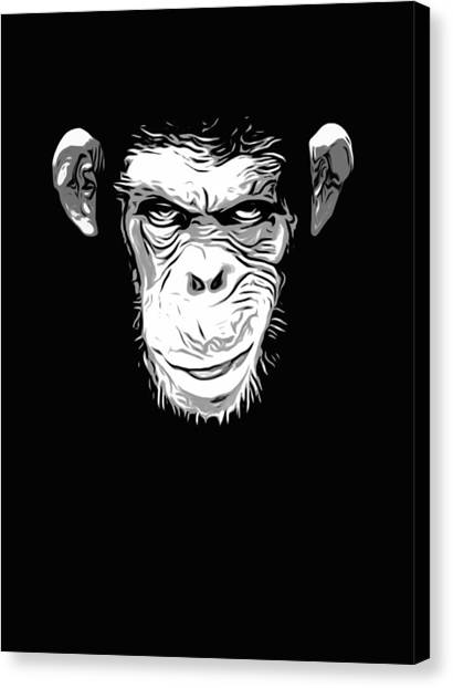 Monkeys Canvas Print - Evil Monkey by Nicklas Gustafsson