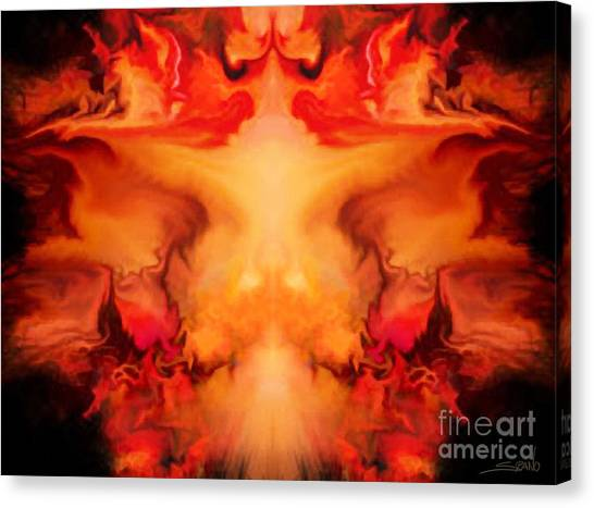 Evil Red Abstract By Spano Canvas Print