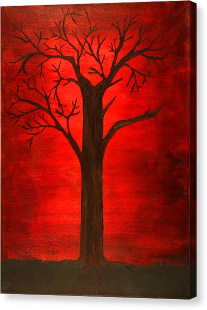 Evil Tree Canvas Print