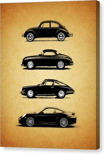 Porsche Canvas Print - Evolution by Mark Rogan
