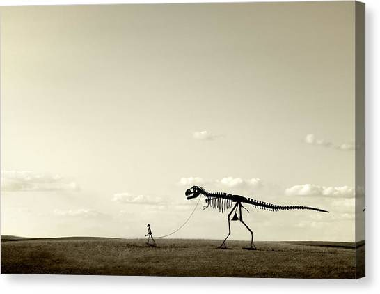 Prehistoric Canvas Print - Evolution by Todd Klassy