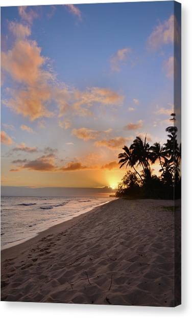 Horizons Canvas Print - Ewa Beach Sunset 2 - Oahu Hawaii by Brian Harig