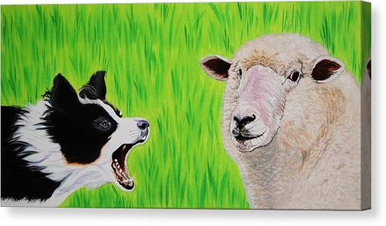 Ewe Talk'in To Me? Canvas Print