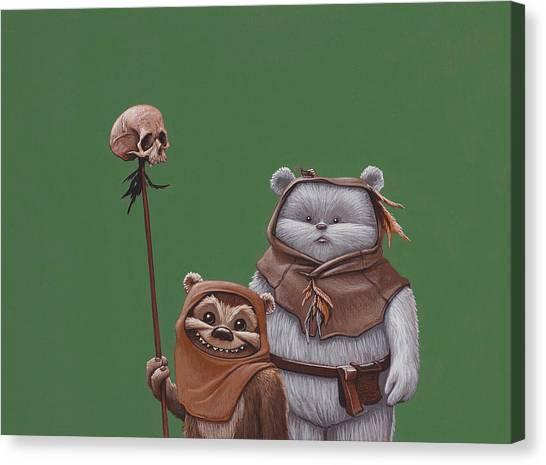 Jedi Canvas Print - Ewoks by Jasper Oostland