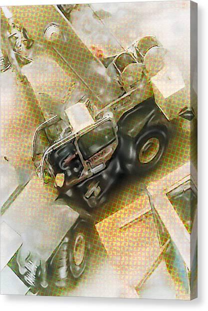 Excavator -02- Canvas Print