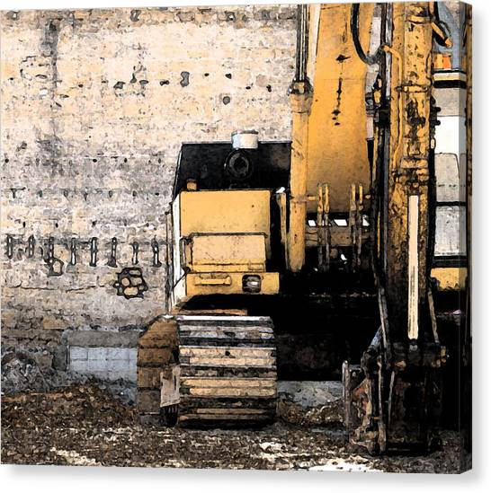 Backhoes Canvas Print - Excavator by Gary Everson