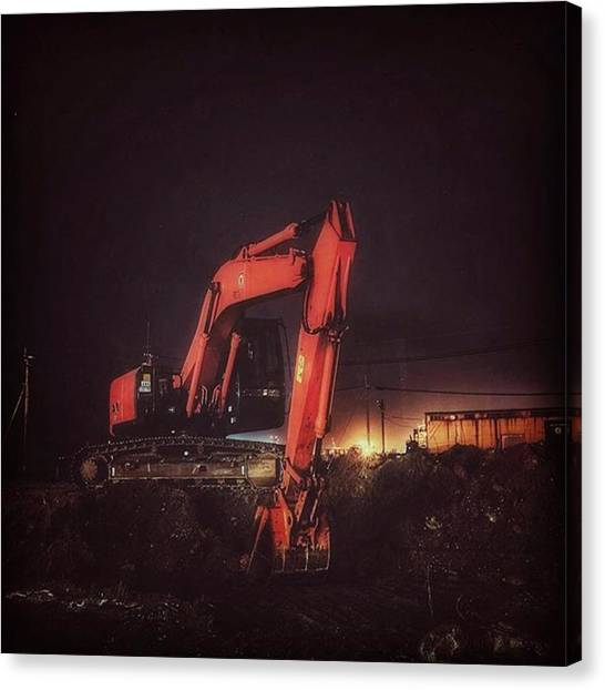 Excavators Canvas Print - Excavator by Shinji Katada