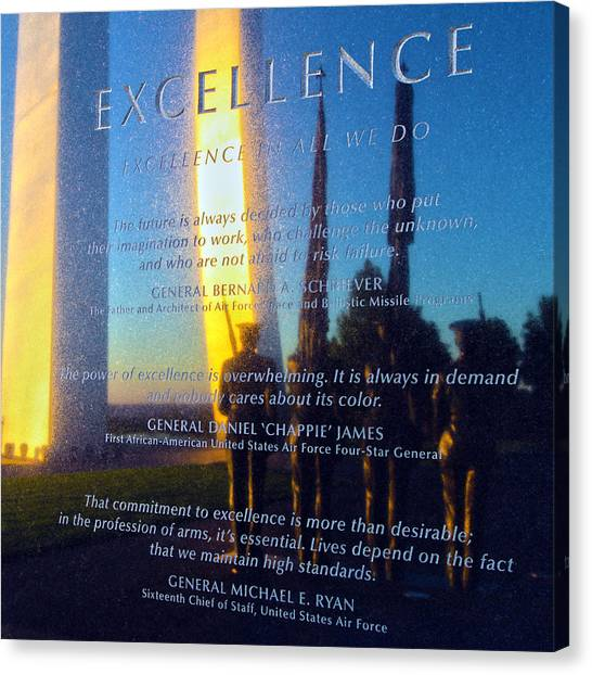 Excellence Canvas Print