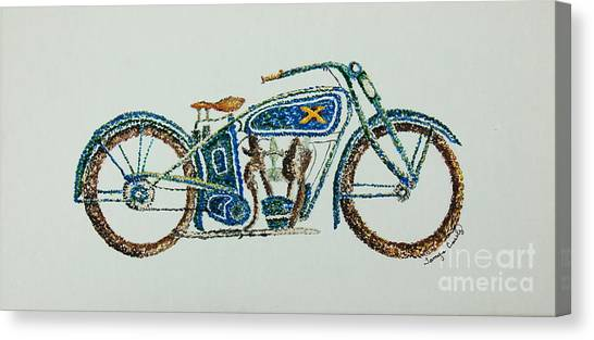 Excelsior Motorcycle Canvas Print